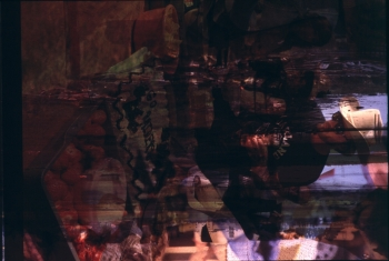 """FAR FROM ANY ROAD_______from INTO THE DARKNESS SERIES / 8 ' 38"""" min. video projection / 2016 / still"""