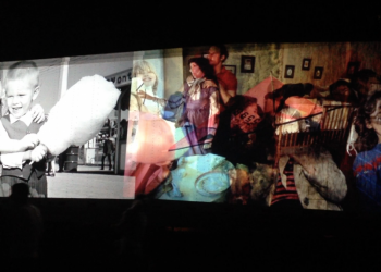 MEMORY LANE_______installation view / 8 projections 300X500 cm each on trucks / Dallas / 2015